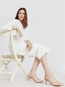 Pembe Kadın İnce Topuklu Ayakkabı