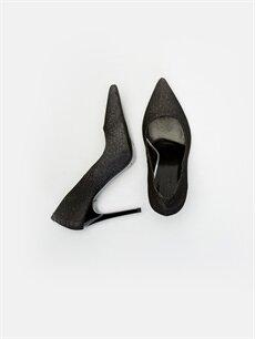 Diğer malzeme (poliüretan) Diğer malzeme (poliüretan)  Kadın Simli Stiletto Ayakkabı