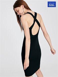 Siyah Sırt Detaylı Abiye Kalem Elbise 9SY651Z8 LC Waikiki