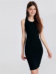 Kadın Sırt Detaylı Abiye Kalem Elbise