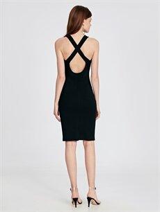 %93 Polyester %7 Elastan Sırt Detaylı Abiye Kalem Elbise