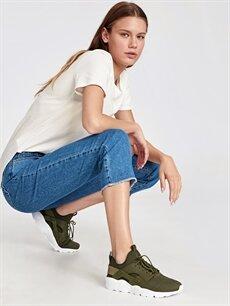 Haki Letoon Kadın Bağcıklı Spor Ayakkabı