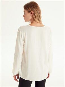 Kadın Dantel Detaylı Viskon Bluz