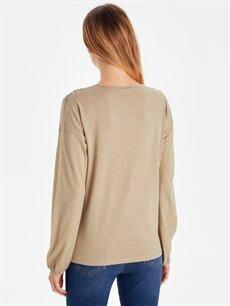 %100 Pamuk Standart Baskılı Uzun Kol Tişört Diğer Baskılı Pamuklu Tişört