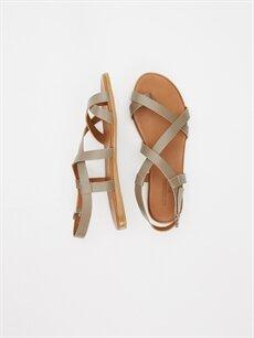 Diğer malzeme (poliüretan) Diğer malzeme (poliüretan)  Kadın Parmak Arası Deri Sandalet