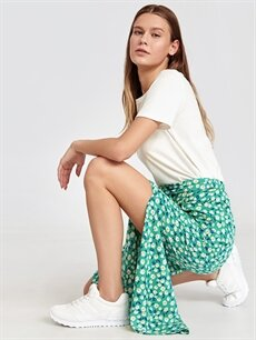 Beyaz Letoon Kadın Bağcıklı Spor Ayakkabı