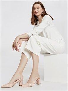 Pembe Kadın Sivri Burun Topuklu Ayakkabı
