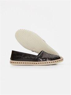 Kadın Kadın Parlak Espadril Ayakkabı