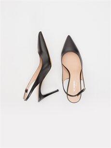 Diğer malzeme (poliüretan) Diğer malzeme (poliüretan)  Kadın Sivri Burun Topuklu Ayakkabı