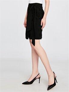 Siyah Kadın Sivri Burun Topuklu Ayakkabı