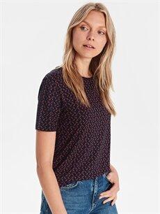 %100 Viskoz Standart Tişört Baskılı Viskon Tişört