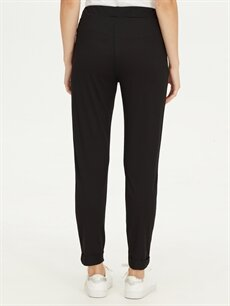 %65 Polyester %35 Viskon Normal Bel Standart Lastikli Bel Pantolon Beli Lastikli Bilek Boy Esnek Pantolon