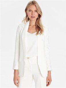 Kadın Viskon Blazer Ceket
