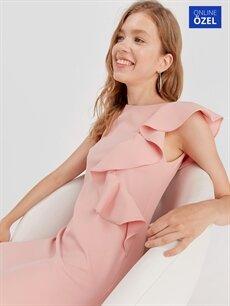 Pembe Fırfır Detaylı Mini Elbise 9SB120Z8 LC Waikiki