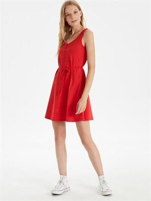 Kuşaklı Mini Kloş Elbise - LC WAIKIKI