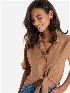 Kadın Beli Bağlama Detaylı Salaş Bluz