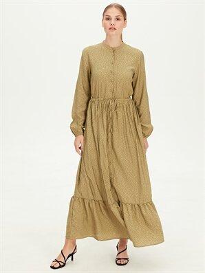Beli Bağlama Detaylı Puantiyeli Uzun Elbise - LC WAIKIKI