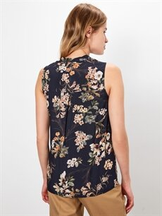 Kadın Çiçek Desenli Viskon Bluz