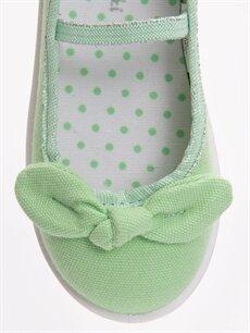 LC Waikiki Yeşil 23 Nisan Kız Çocuk Babet Ayakkabı