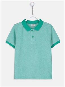 Yeşil Erkek Çocuk Pamuklu Basic Tişört 9S0296Z4 LC Waikiki