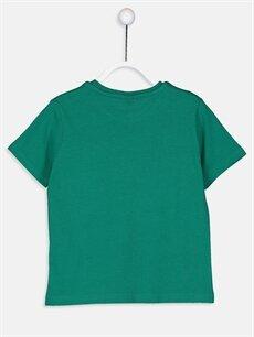 %100 Pamuk Baskılı Normal Tişört Bisiklet Yaka Erkek Çocuk Yazı Baskılı Pamuklu Tişört