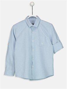 Mavi Erkek Çocuk Uzun Kollu Oxford Gömlek 9S0388Z4 LC Waikiki