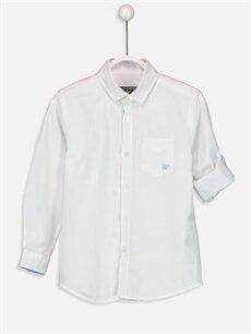 Beyaz Erkek Çocuk Uzun Kollu Oxford Gömlek 9S0388Z4 LC Waikiki