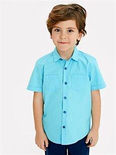 Erkek Çocuk Erkek Çocuk Kısa Kollu Poplin Gömlek