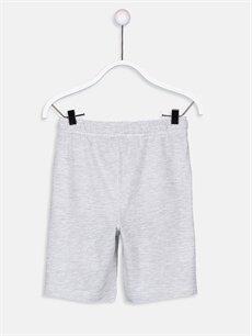 %75 Pamuk %25 Polyester Şort Erkek Çocuk Beli Lastikli Şort