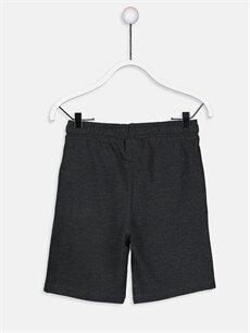 %62 Pamuk %38 Polyester Şort Erkek Çocuk Beli Lastikli Pamuklu Şort