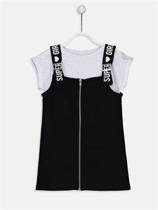 Siyah Kız Çocuk Elbise ve Tişört 9S1220Z4 LC Waikiki
