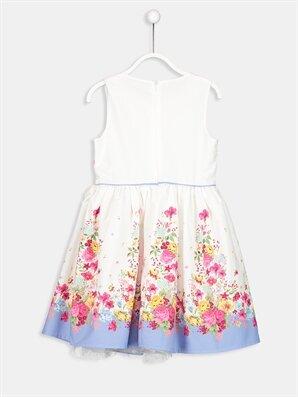 Çiçek Desenli Poplin Elbise -9S1972Z4-676