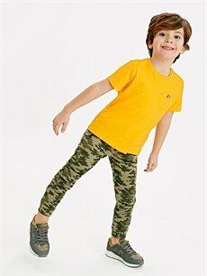 Erkek Çocuk Erkek Çocuk Kamuflaj Desenli Gabardin Pantolon