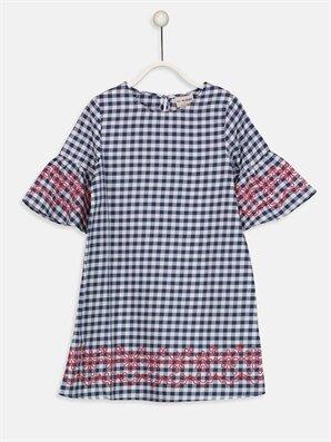 Kız Çocuk Çiçekli Poplin Elbise -9S2477Z4-LN6