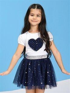 Kız Çocuk 23 Nisan Kız Çocuk Nakışlı Tişört