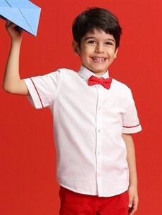 Erkek Çocuk 23 Nisan Erkek Çocuk Beyaz Gömlek ve Papyon