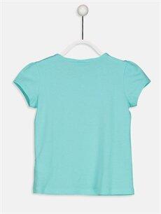 %100 Pamuk Standart Tişört Düz Kısa Kol Bisiklet Yaka Kız Çocuk Pamuklu Basic Tişört