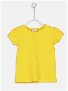 Sarı Kız Çocuk Pamuklu Basic Tişört 9S2892Z4 LC Waikiki
