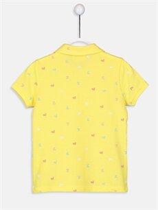 %100 Pamuk Standart Tişört Baskılı Kısa Kol Polo Kız Çocuk Baskılı Polo Yaka Tişört