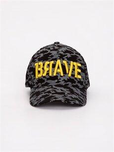 %100 Pamuk Şapka Erkek Çocuk Kamuflaj Desenli Şapka