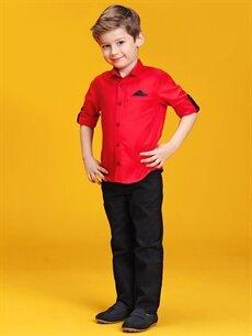 %100 Pamuk 23 Nisan Erkek Çocuk Standart Kalıp Pantolon