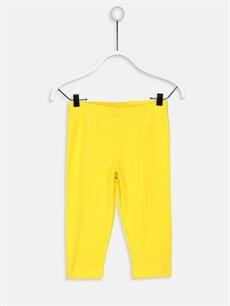 Sarı Kız Çocuk Pamuklu Diz Altı Tayt 9S4187Z4 LC Waikiki