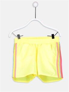 Sarı Kız Çocuk Deniz Şortu 9S4573Z4 LC Waikiki