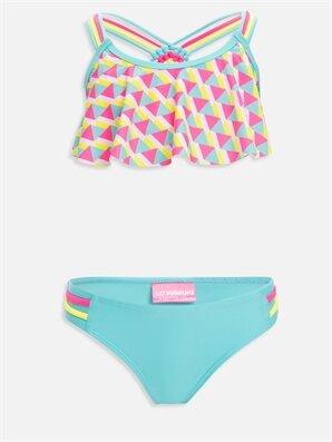 Kız Çocuk Desenli Bikini - LC WAIKIKI