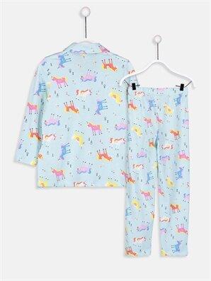 Kız Çocuk Pamuklu Pijama Takımı -9S4829Z4-LQK