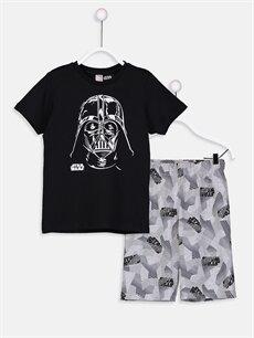 Siyah Erkek Çocuk Star Wars Pijama Takımı 9S4867Z4 LC Waikiki