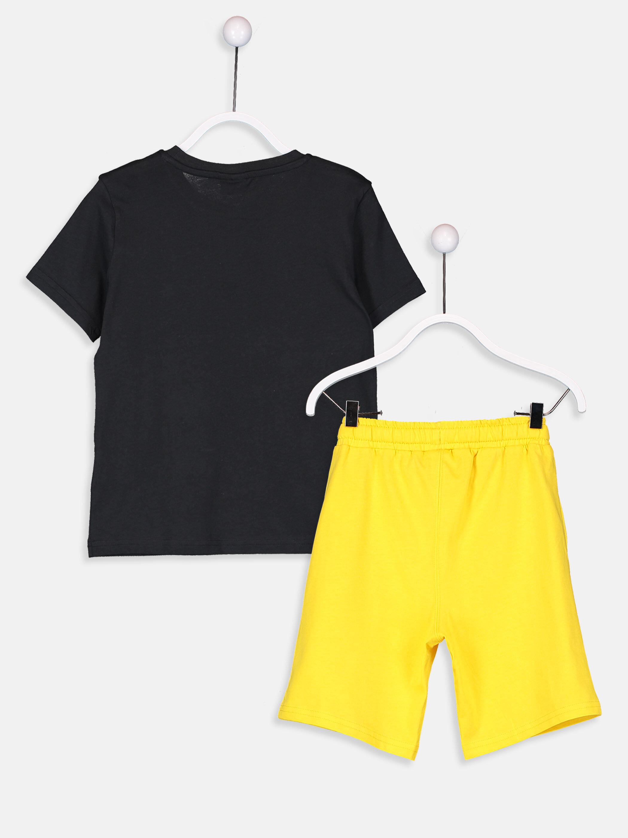 Erkek Çocuk Pamuklu Tişört ve Şort -9S5238Z4-JTK