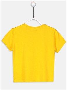 %100 Pamuk Baskılı Normal Bisiklet Yaka Tişört Kısa Kol Erkek Çocuk Baskılı Pamuklu Tişört