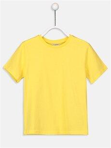 Sarı Erkek Çocuk Pamuklu Basic Tişört 9S6276Z4 LC Waikiki