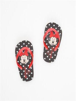 Kız Çocuk Minnie Mouse Baskılı Parmak Arası Terlik - LC WAIKIKI